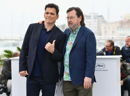 Matt Dillon y Lars Von Trier en Cannes