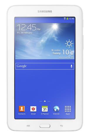 Galaxy Tab 3 Lite de frente