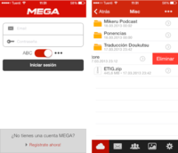 Mega ya tiene aplicación oficial para iOS, aunque de momento sólo en los iPhone