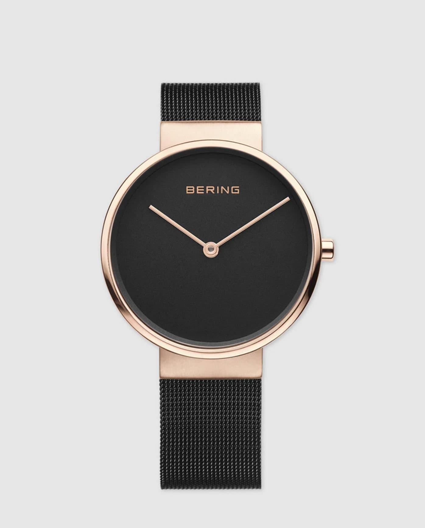 Reloj de mujer Bering 14539-166 de acero negro