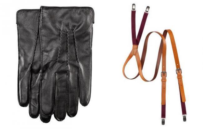 Materiales selectos guantes y tirantes en H&M