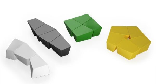 Foto de Banco CH, modular y multicolor de Itoki (1/5)
