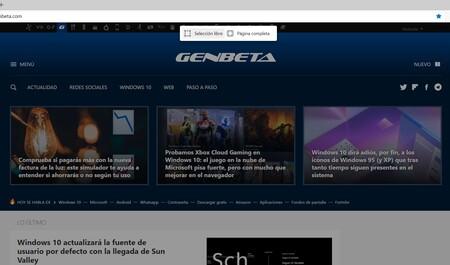 Cómo hacer capturas de pantalla de una web completa con Microsoft Edge