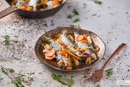 sardinas al horno en escabeche
