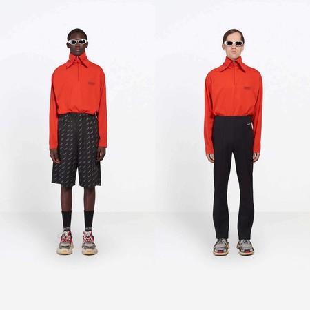 Balenciaga Hace Del Color Rojo Los Logos Y El Denim Los Elementos Clave Para Una Coleccion Capsula 3