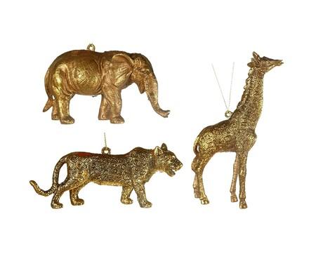Set de 3 adornos colgantes Safari