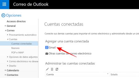 Elige La Opcion Gmail
