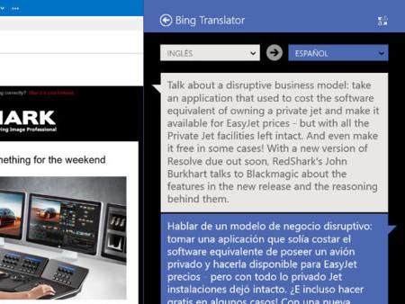 Traducción contextual de Bing Translator para Windows 8