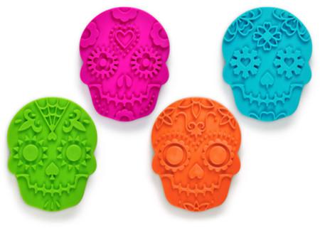 Originales cortadores de galletas con motivos del Día de Muertos