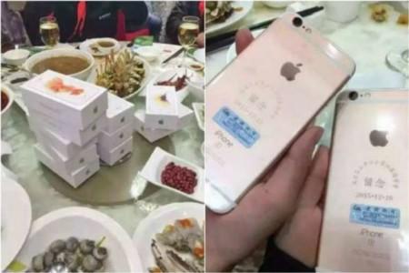 Un empresario chino reparte 39 iPhone 6S entre sus excompañeros del cole