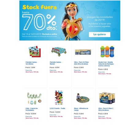 Stock fuera en Toys´r us: descuentos de hasta el 70% para hacer sitio a los nuevos juguetes