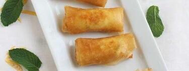 Rollitos de brick y queso feta, receta