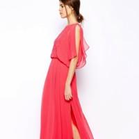 vestido color coral asos