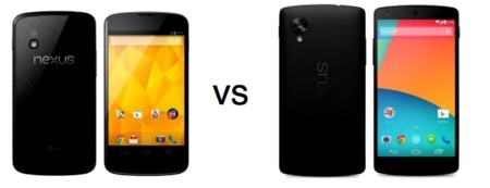 Nexus 4 vs Nexus 5