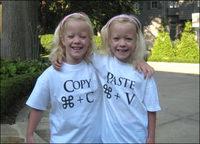 Divertidas camisetas para gemelos