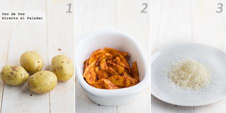 Patatas asadas al pimentón con alioli. Receta