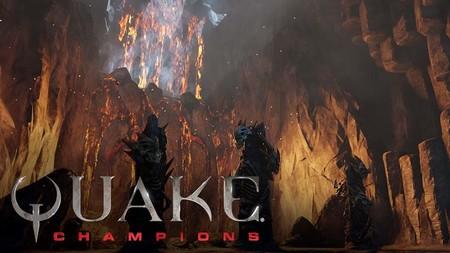 El espectaculo de Quake Champions en su nuevo escenario Burial Chamber