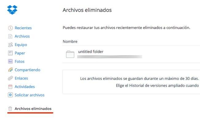 Archivos Eliminados