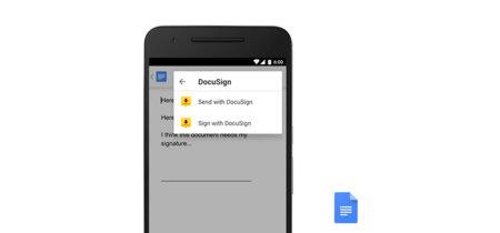 Google Docs y Sheets para Android estrenan los complementos, más integración con otras aplicaciones