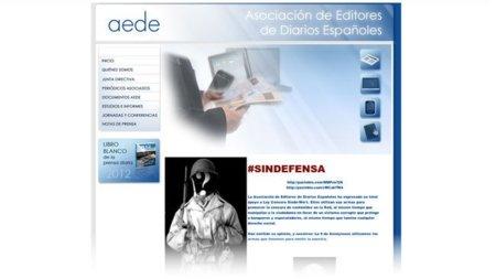 Hackeada la web de la Asociación de Editores de Prensa