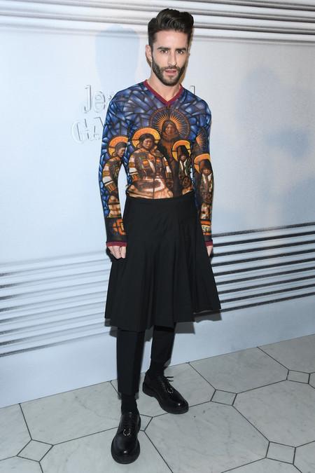 Pelayo Diaz Se Va De Falda Al Desfile Haute Couture De Gaultier En Paris 2