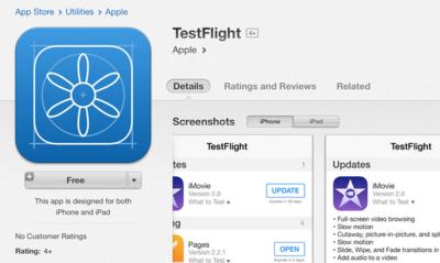 TestFlight ya aparece en la App Store como una aplicación oficial de Apple