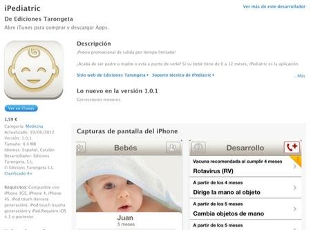iPediatric es una aplicación para dispositivos de Apple pensada para padres con recién nacidos