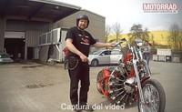 Barón Rojo: la moto demente de la semana con motor de avión