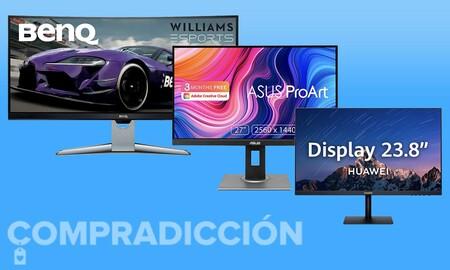 15 monitores de PC a precio de chollo esta semana en Amazon: modelos de AOC, ASUS, BenQ, HP, MSI o Samsung para jugar y trabajar