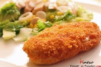 Pollo panko relleno de queso de cabra. Receta