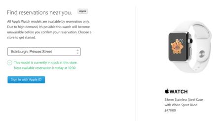 Poco a poco: Apple activa la reserva y recogida de los Watch en algunos países