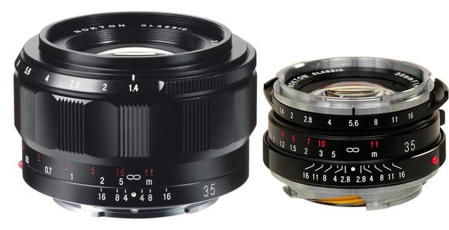 Voigtlander Classic Nokton 35 mm. F1,4 Lens para montura E y modelo antiguo en el que está inspirado