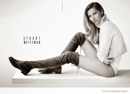 El bottier Stuart Weitzman pide a Gisele que preste sus kilométricas piernas para presentar su nueva colección