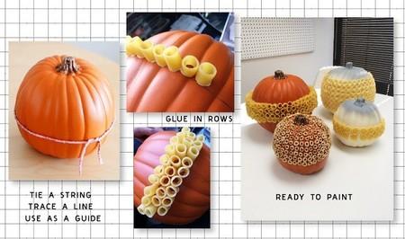 calabazas con texturas cómo hacer