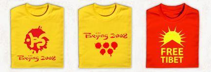 Camisetas de apoyo al Tíbet