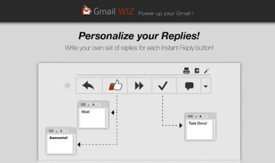 GmailWiz, extensión de Chrome para automatizar respuestas en Gmail