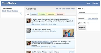 Trav Notes, el Twitter para viajeros