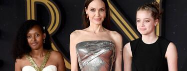Angelina Jolie aparece en el Festival de Cine de Roma de la mano de sus dos hijas, Zahara y Shiloh
