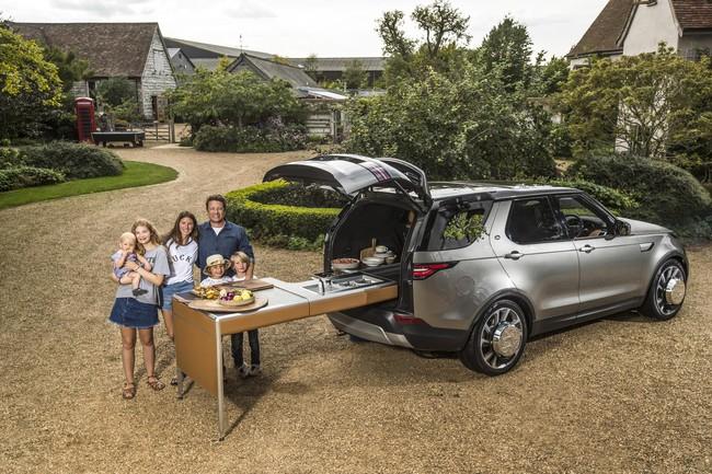 El polifacético Land Rover Discovery ahora se convierte en una cocina sobre ruedas