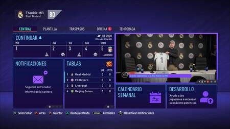 Fifa 21 Carrera En Los Menus 3
