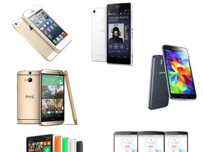 Los mejores smartphones de gama alta de 2014 frente a frente