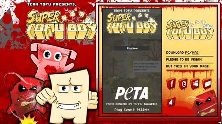 PETA presenta 'Super Tofu Boy' parodiando a Team Meat