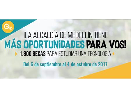 Alcaldía de Medellín entregará 1.800 becas para estudiar una tecnología