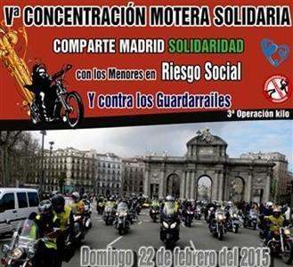 Quinta Concentración Motera Solidaria: Comparte Madrid, domingo 22 de febrero