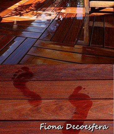 Suelo de madera exterior