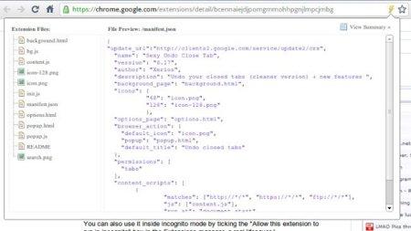 Curiosea el código de las extensiones de Chrome antes de instalarlas