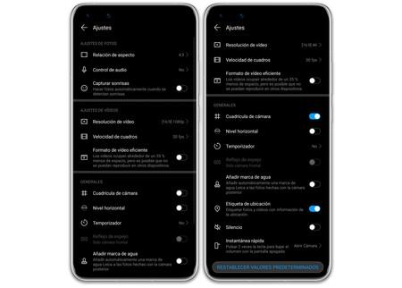 Huawei P40 Pro 05 Ajustes App Camara