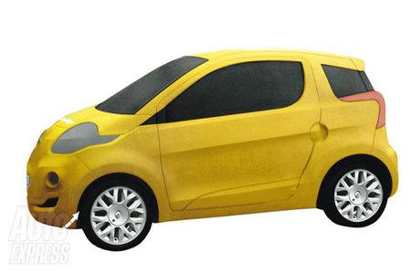 Renault Twingo ZE, desvelado en forma de maqueta