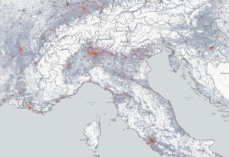 Mapa Demografico Italia