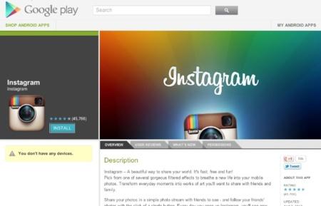 Instagram para Android se ha descargado ya más de un millón de veces